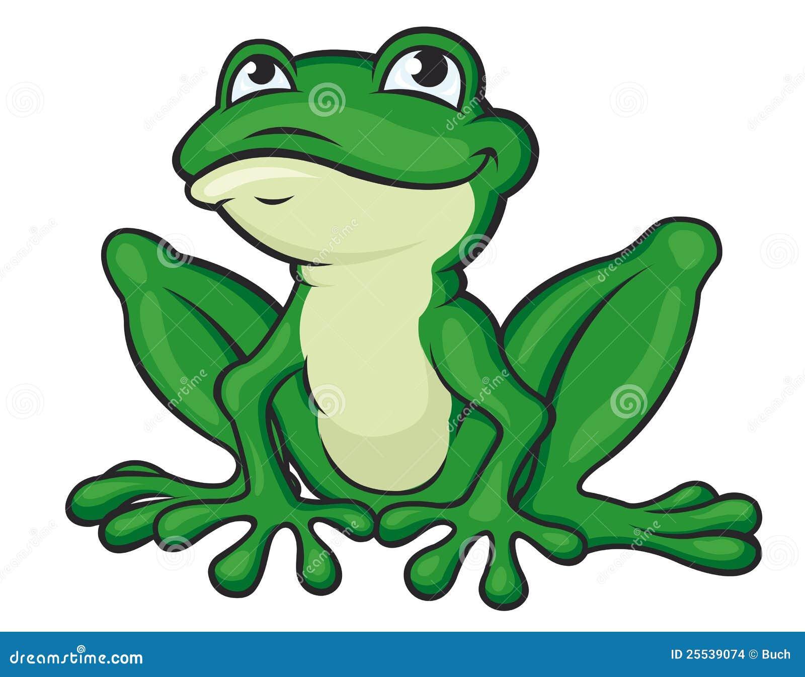 Grenouille verte de dessin anim images stock image 25539074 - Dessin de grenouille verte ...