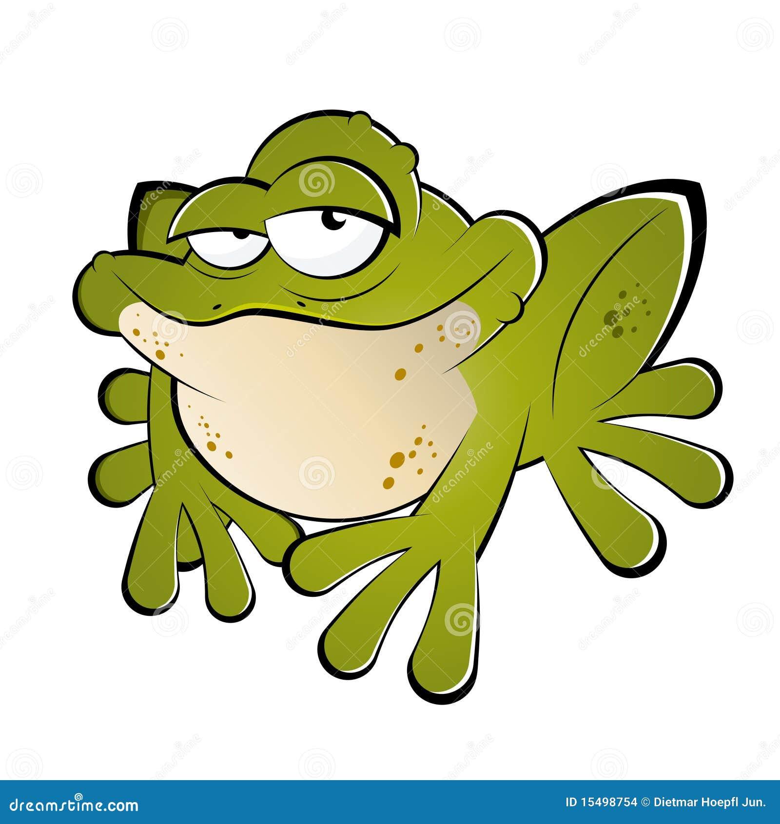 Grenouille verte de dessin anim images stock image 15498754 - Image de dessin anime ...