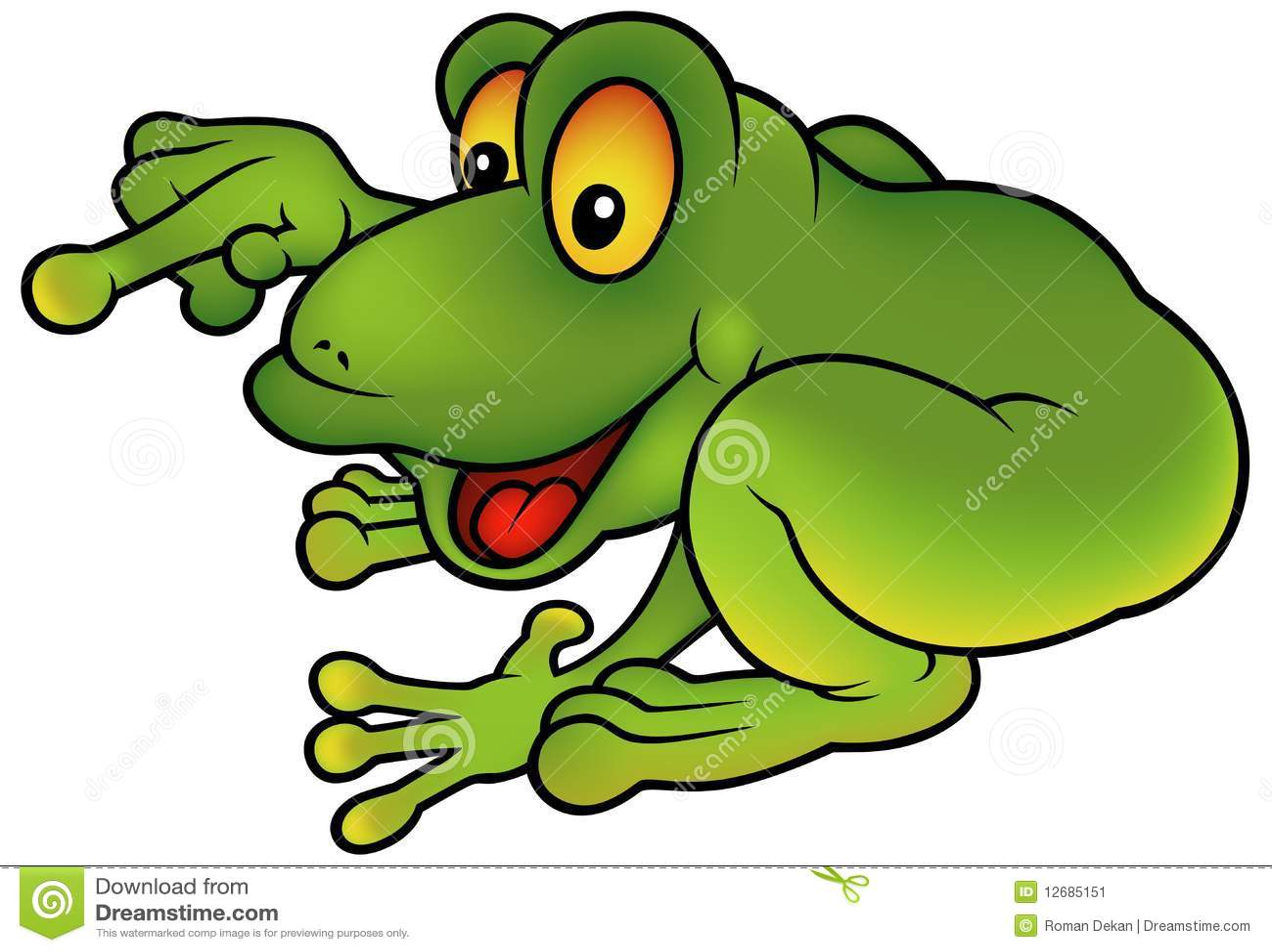 Grenouille verte heureuse illustration de vecteur illustration du vert 12685151 - Dessin de grenouille verte ...