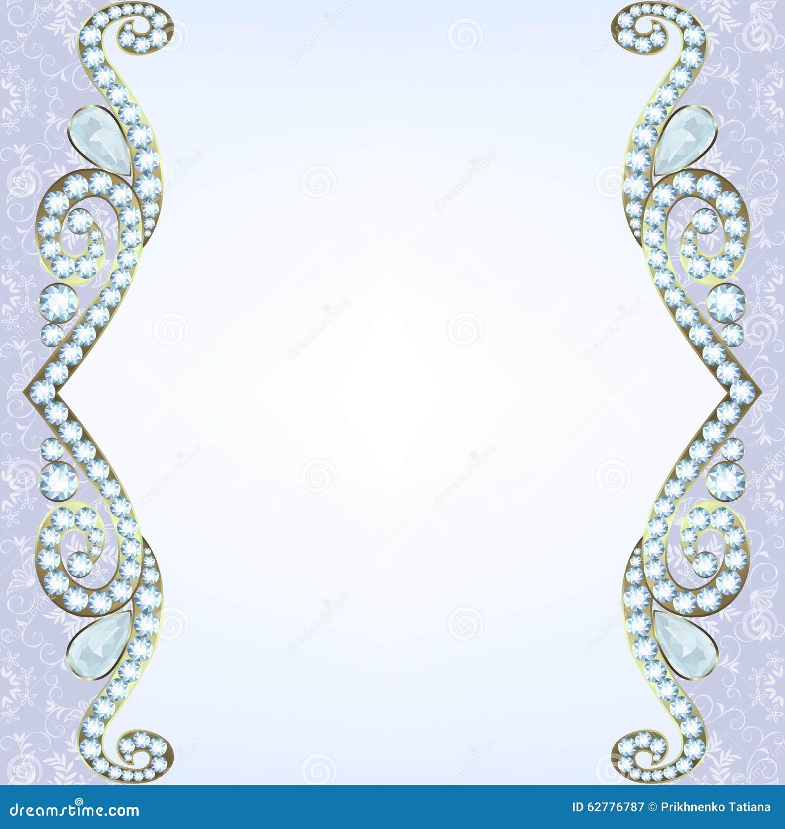 Grens met diamanten