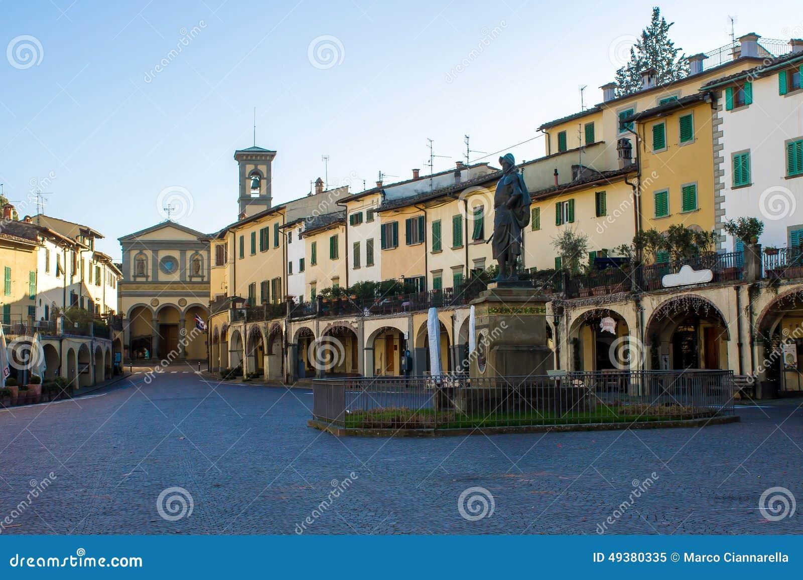 Karta Italien Chianti.Greve I Chianti Italien Fotografering For Bildbyraer Bild Av Wine