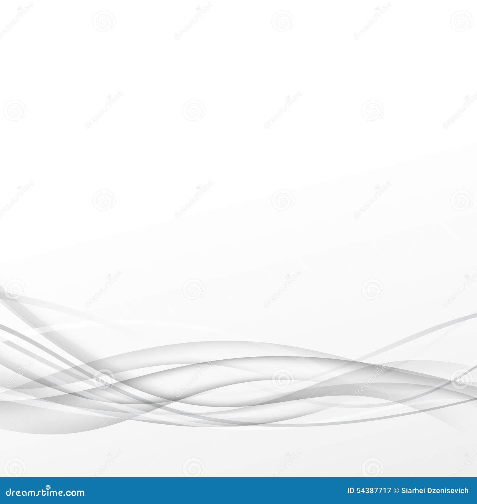 Line Art Design Background : Grey abstract smooth line transparent swoosh background