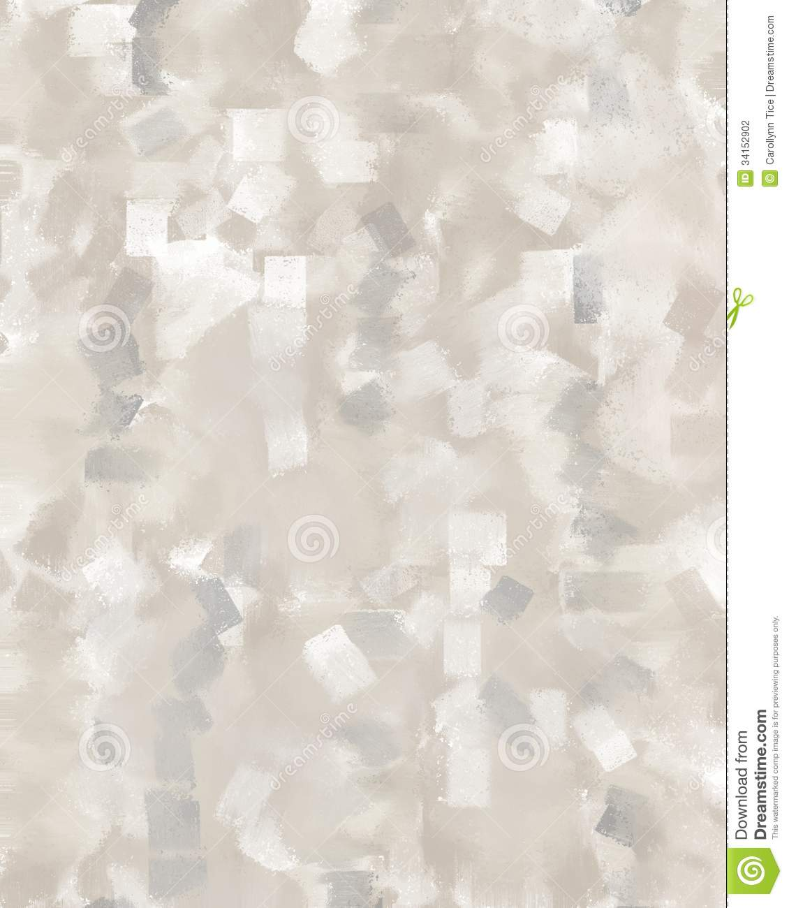 Grey And Beige Abstract Art Painting Stock Photo Image