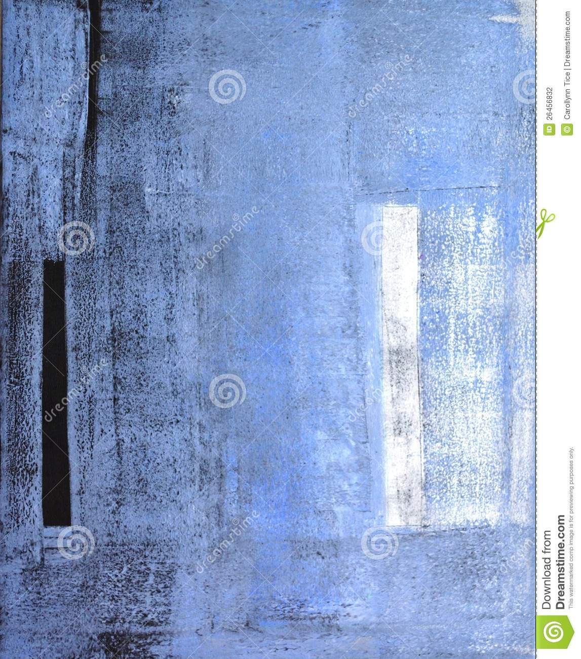 Grey And Blue Abstract Art Painting Stock Photography