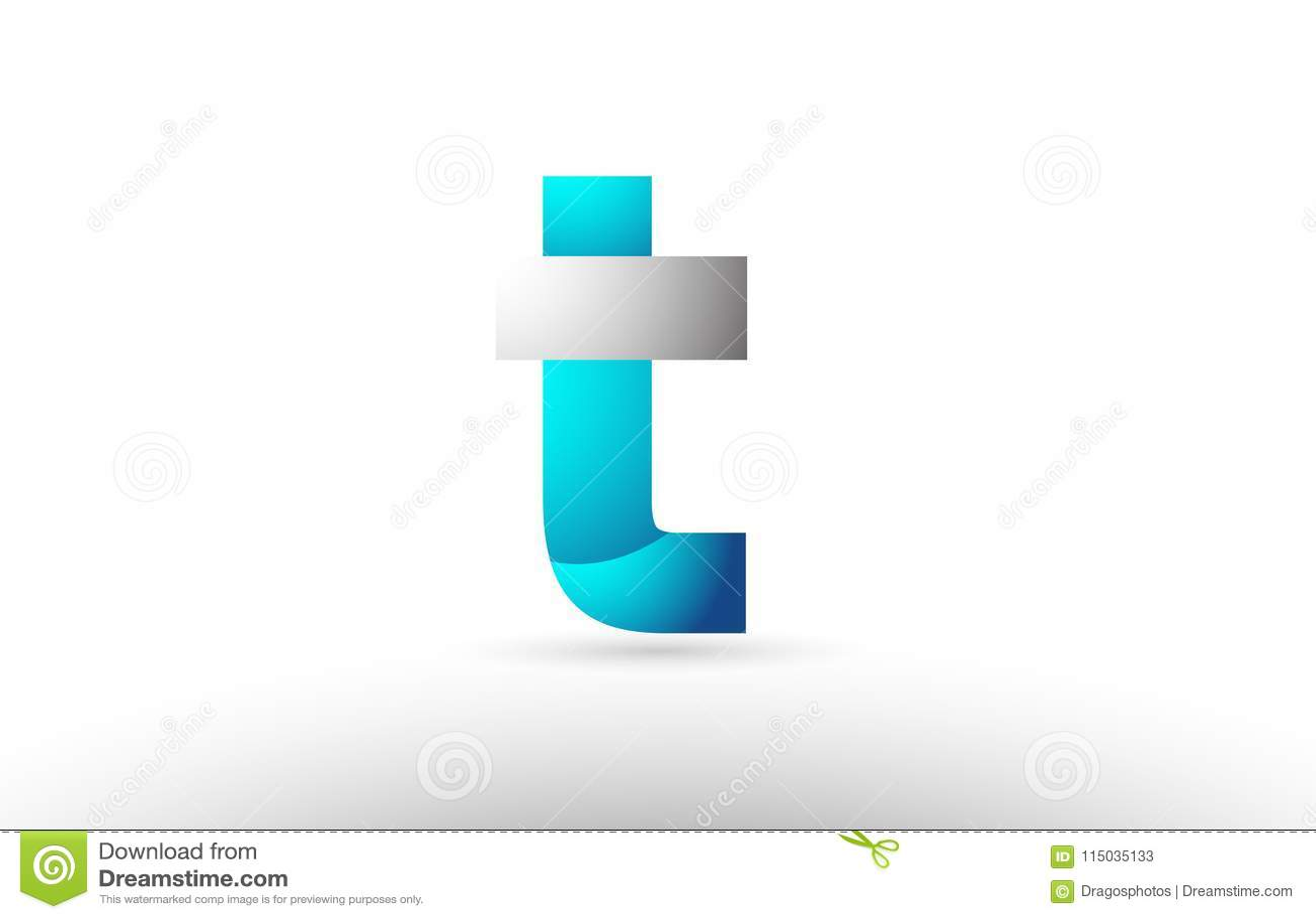 e29610e0a grey blue alphabet letter t logo 3d design. Download preview