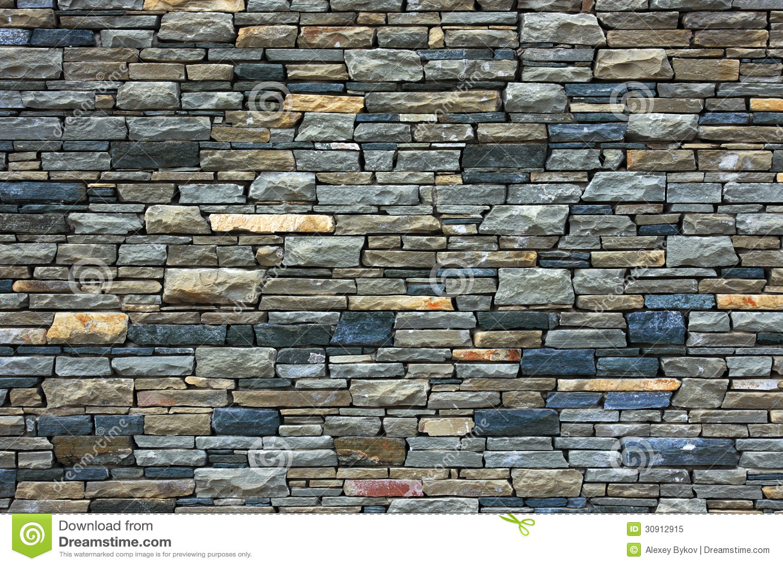 Grey Brick Wall As Background