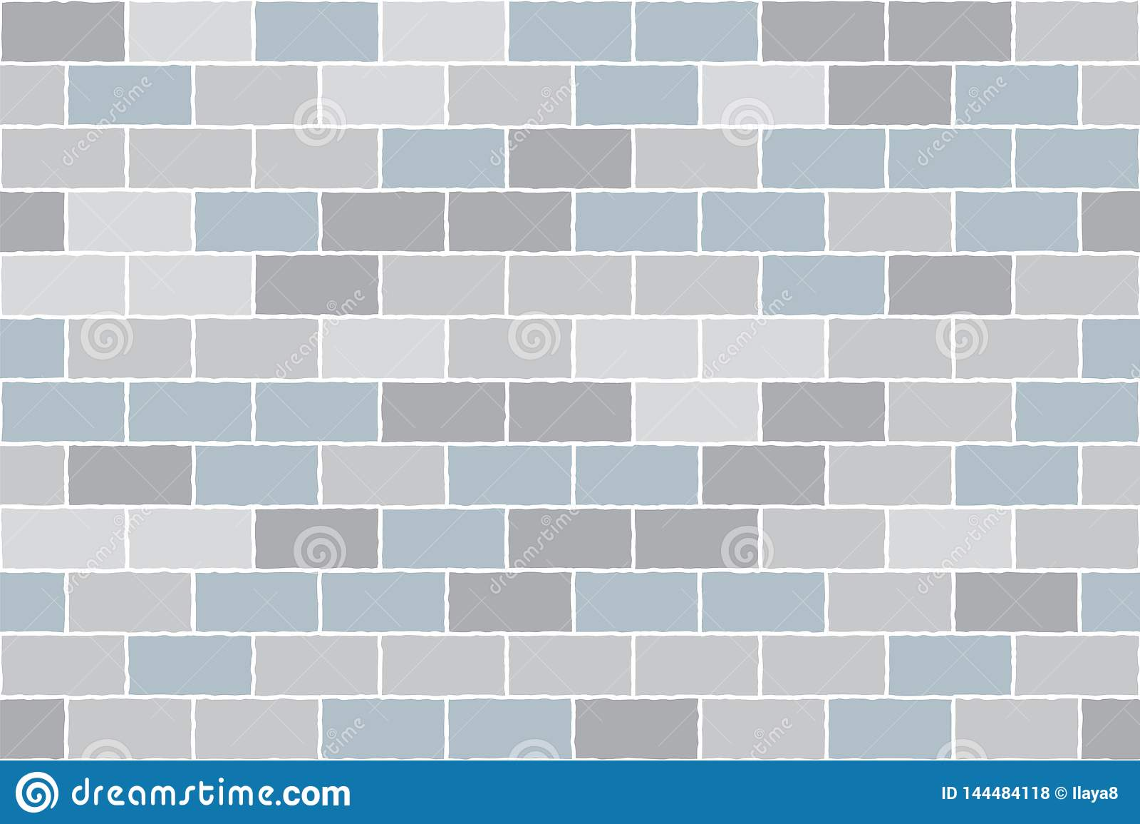 Grey brick wall. Vector background. Seamless pattern