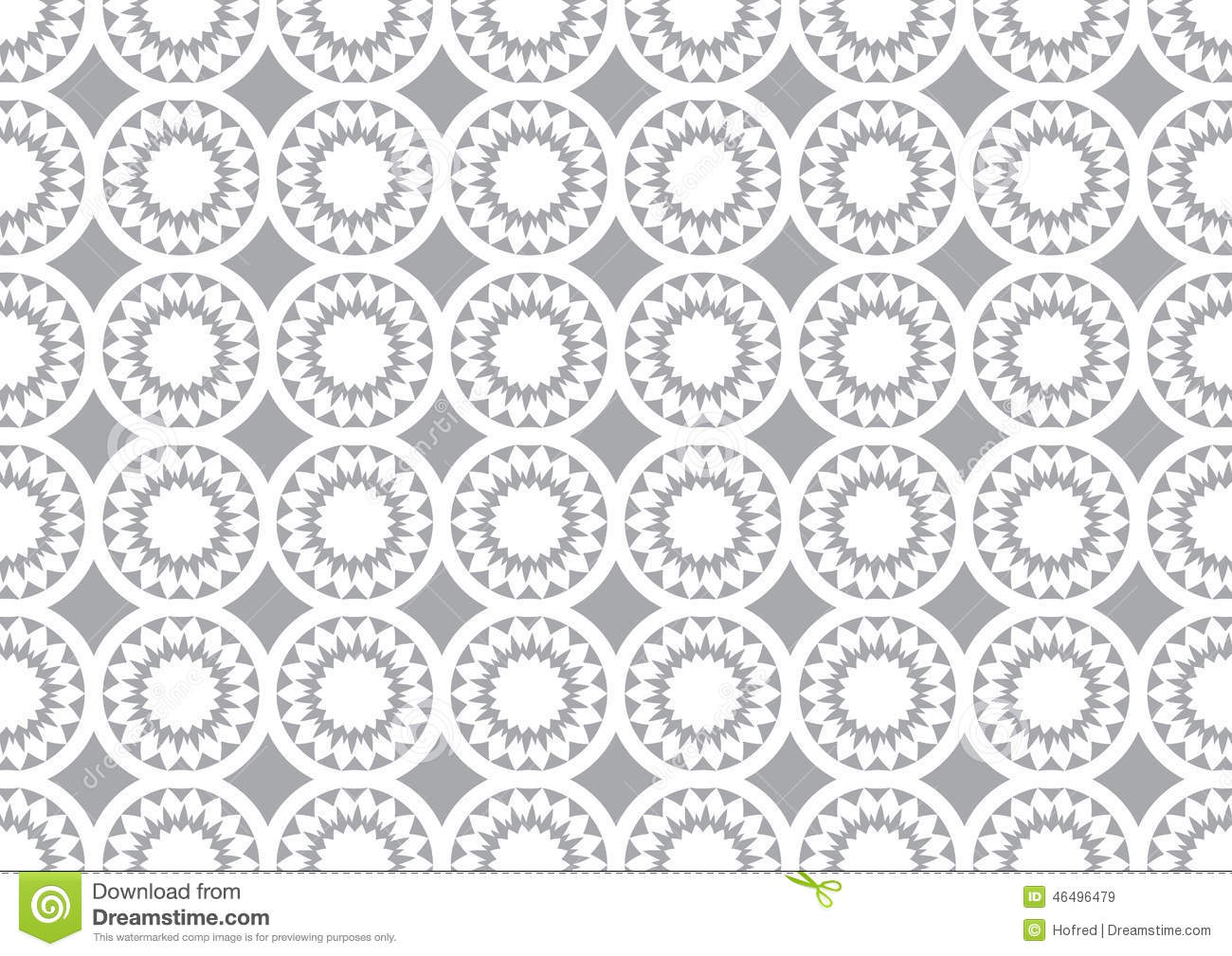 Grey Circle Kaleidoscope Pattern Background For Wallpaper Illustration 46496479