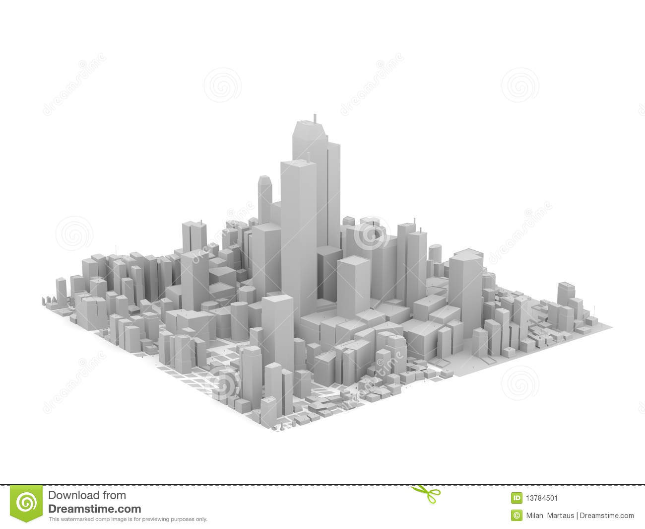 Pictures Of Toy Models Of Cities : Grey city model stock illustration image of color
