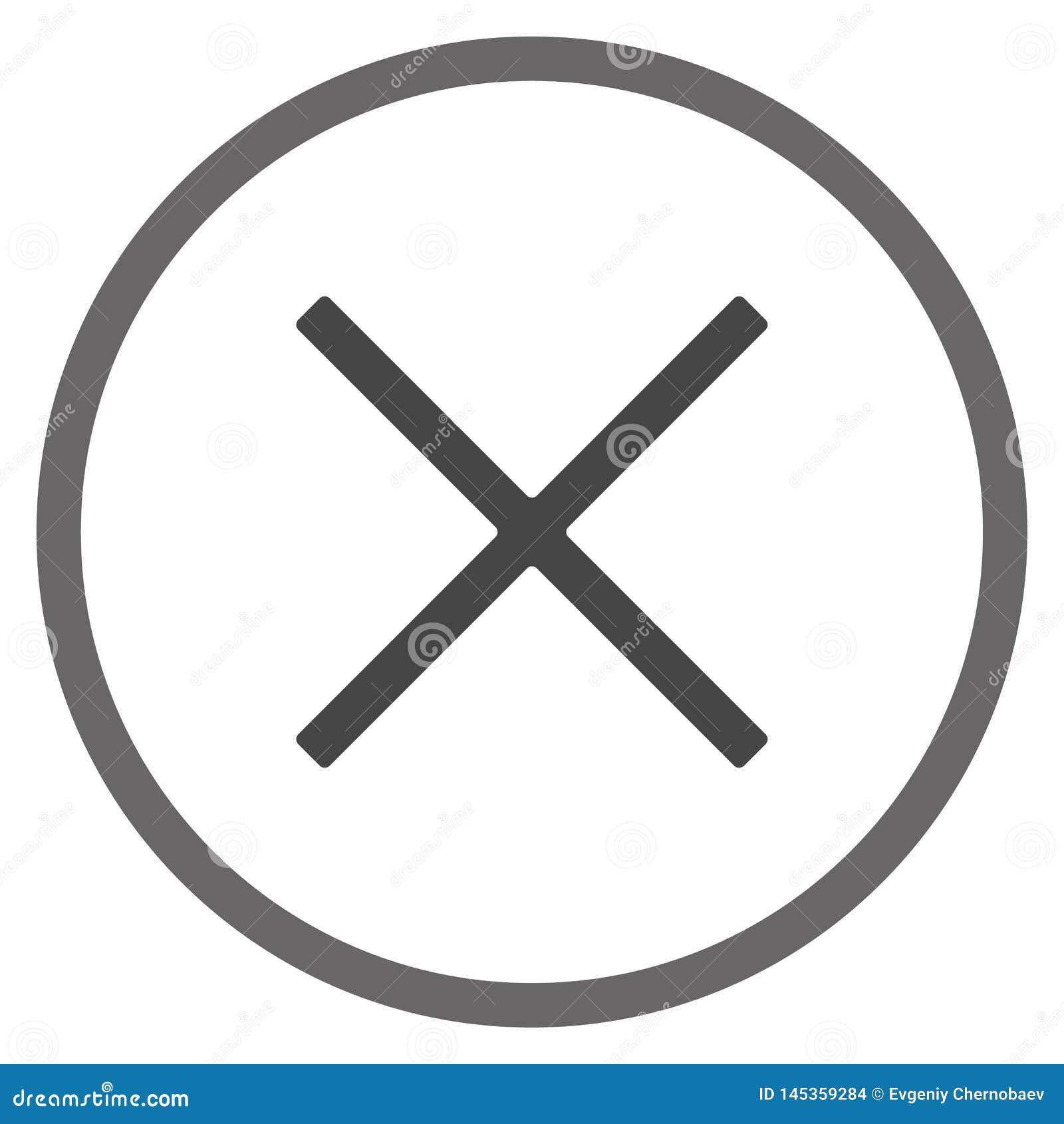 Grey Close fönstersymbol Nära menyteckenvektor eps10 på vit bakgrund