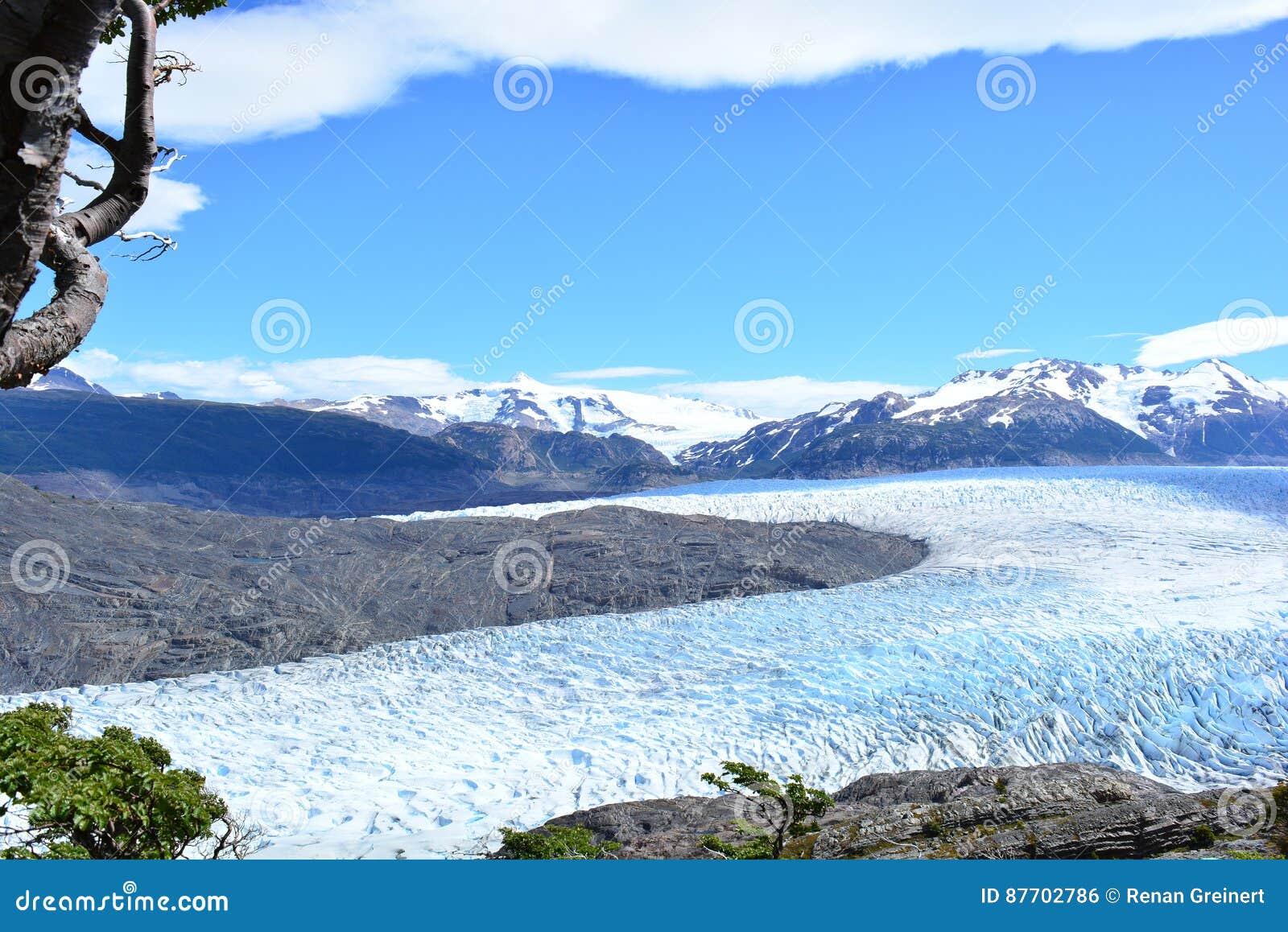 Grey Glacier au parc national de Torres del Paine, Chili