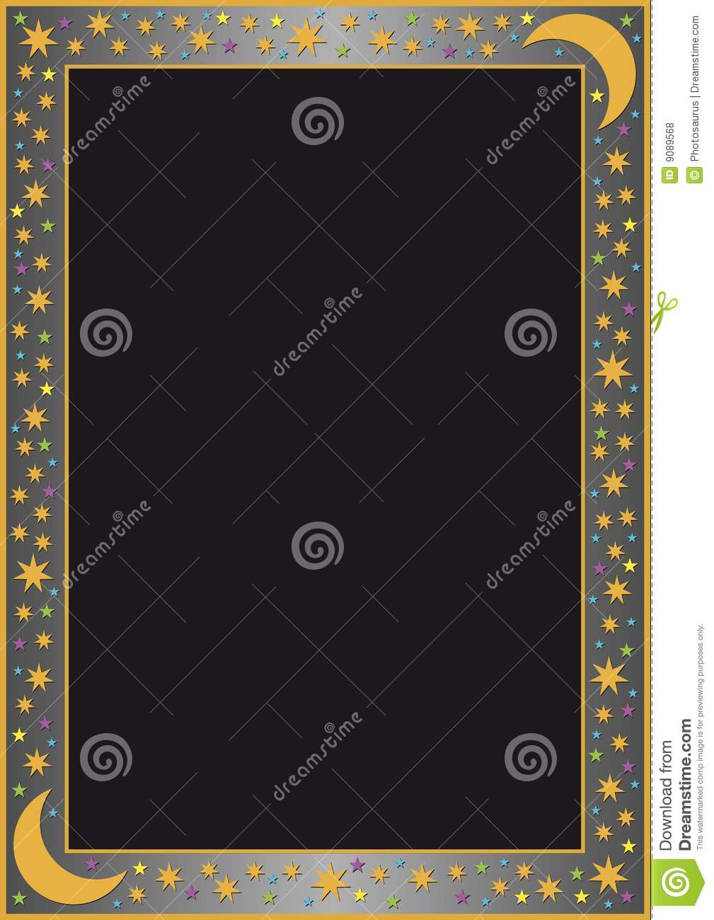 Grey gradient border with many stars
