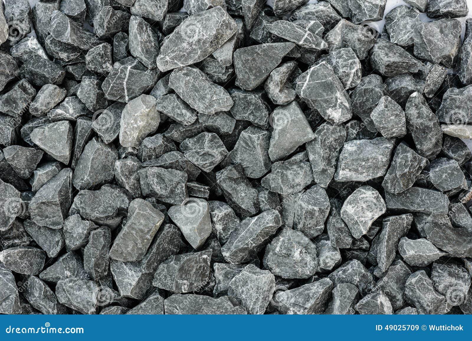 Grey Granite Gravel Background For Mix Concrete Stock
