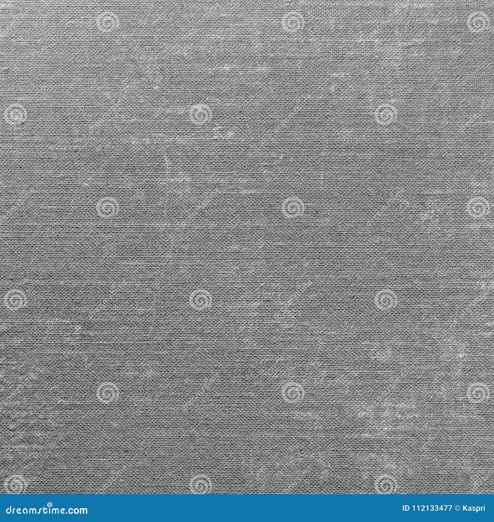 Grey Grunge Linen Texture Pattern, de Macroclose-up van Gray Textured Burlap Fabric Background, Oud Oud Linnenflard
