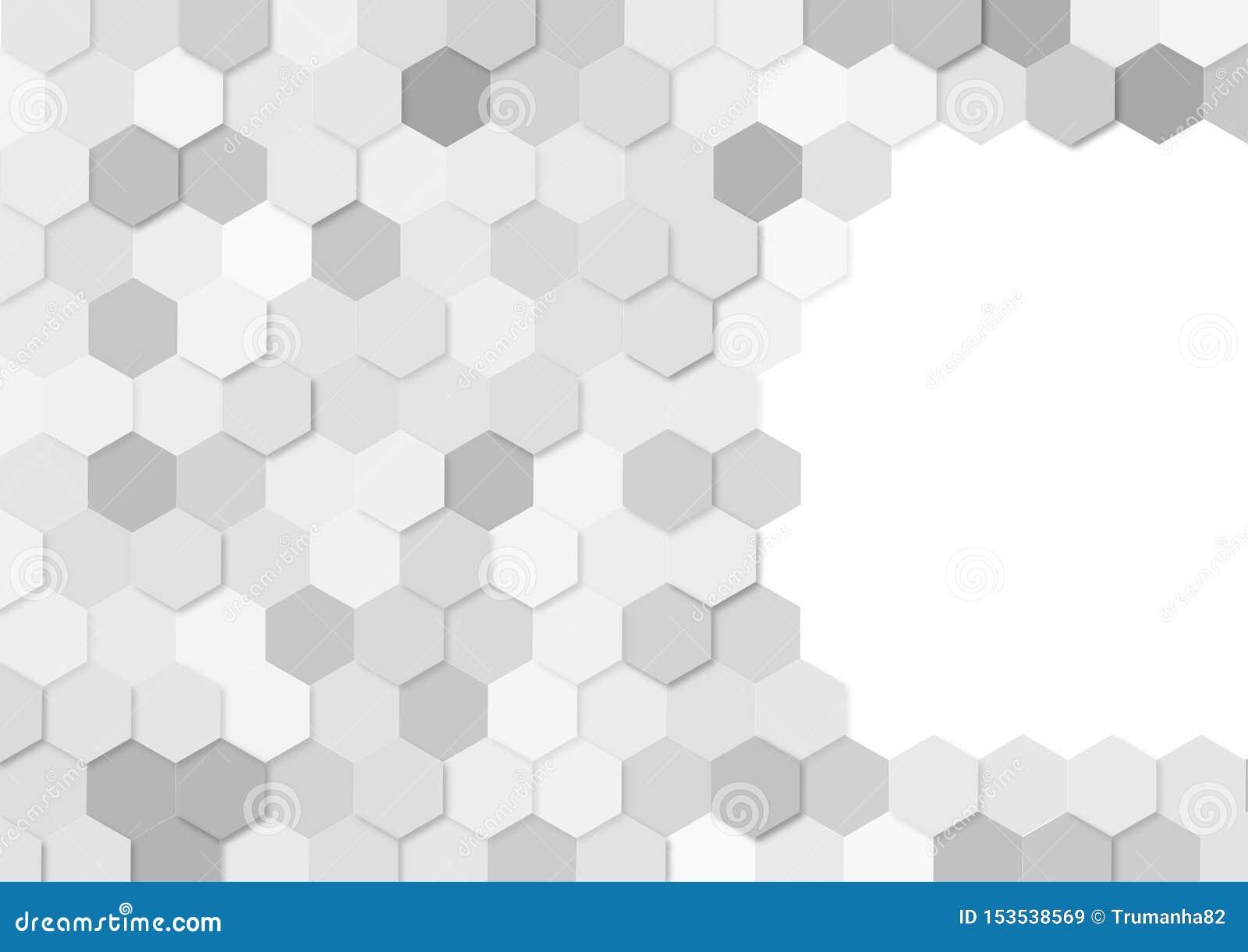 Grey Hexagons Pattern Sans Couture A L Arriere Plan Blanc Illustration De Vecteur Illustration Du Arriere Couture 153538569