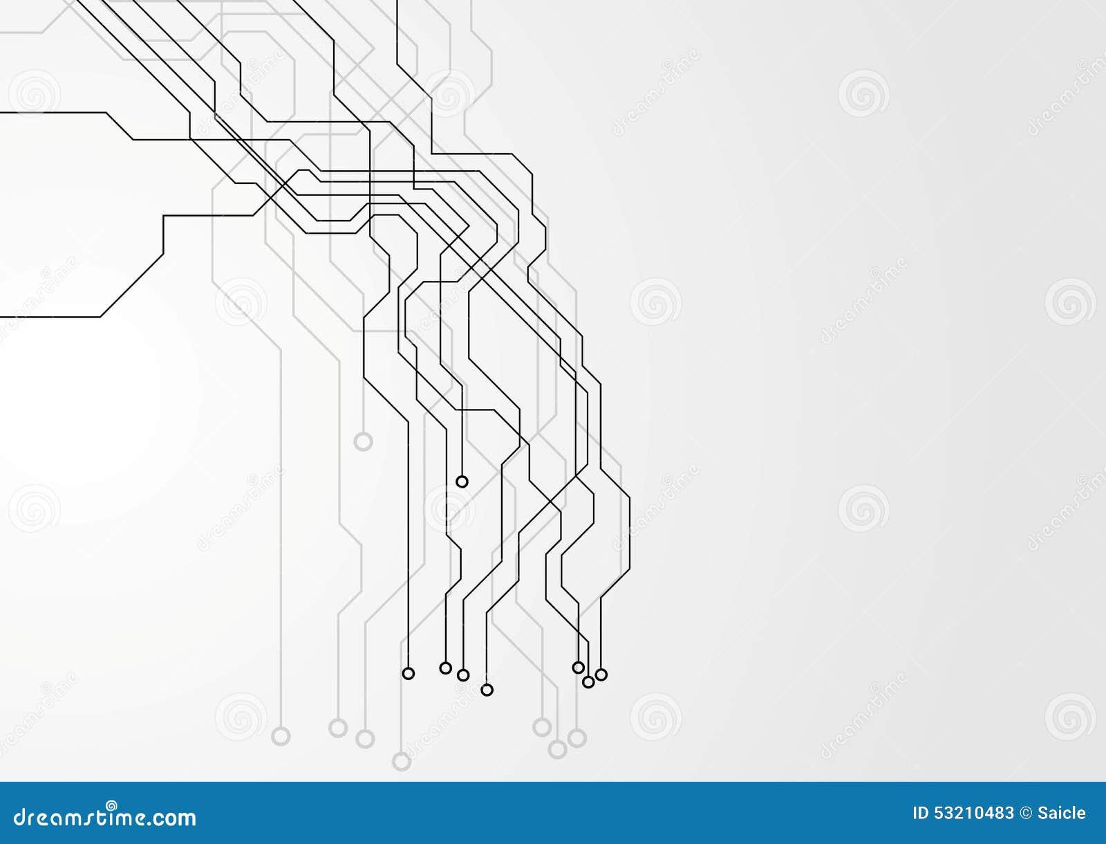 Tree Design On Circuit Board Wallpaper Vector Image: Grey Hi-tech Circuit Board Background Stock Vector