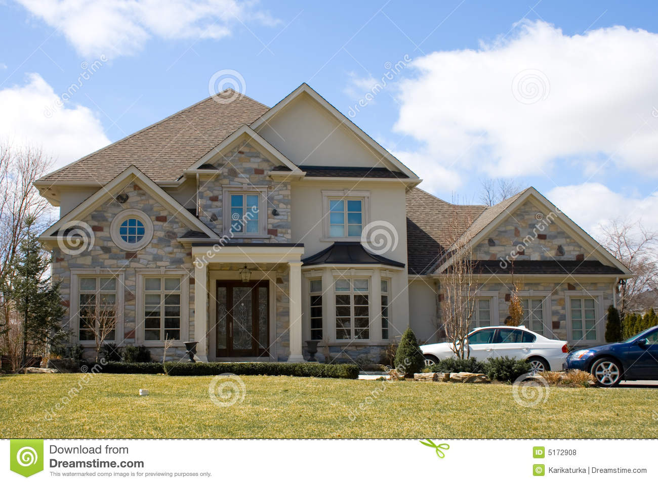 Grey house stock photo image of candid houses family for Free house photos