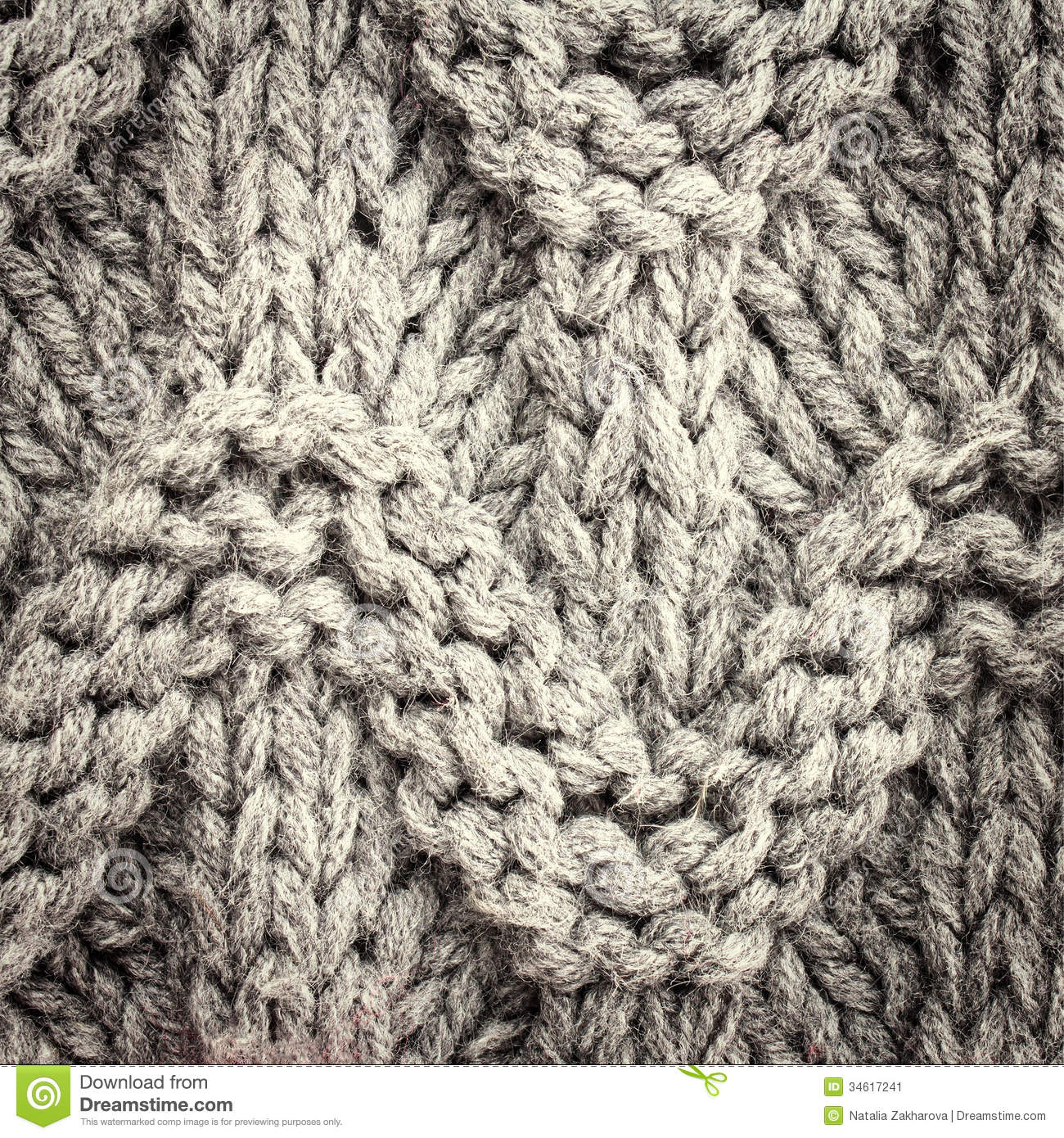 ... Image: Grey knitting background texture, Knit woolen Christmas festiv