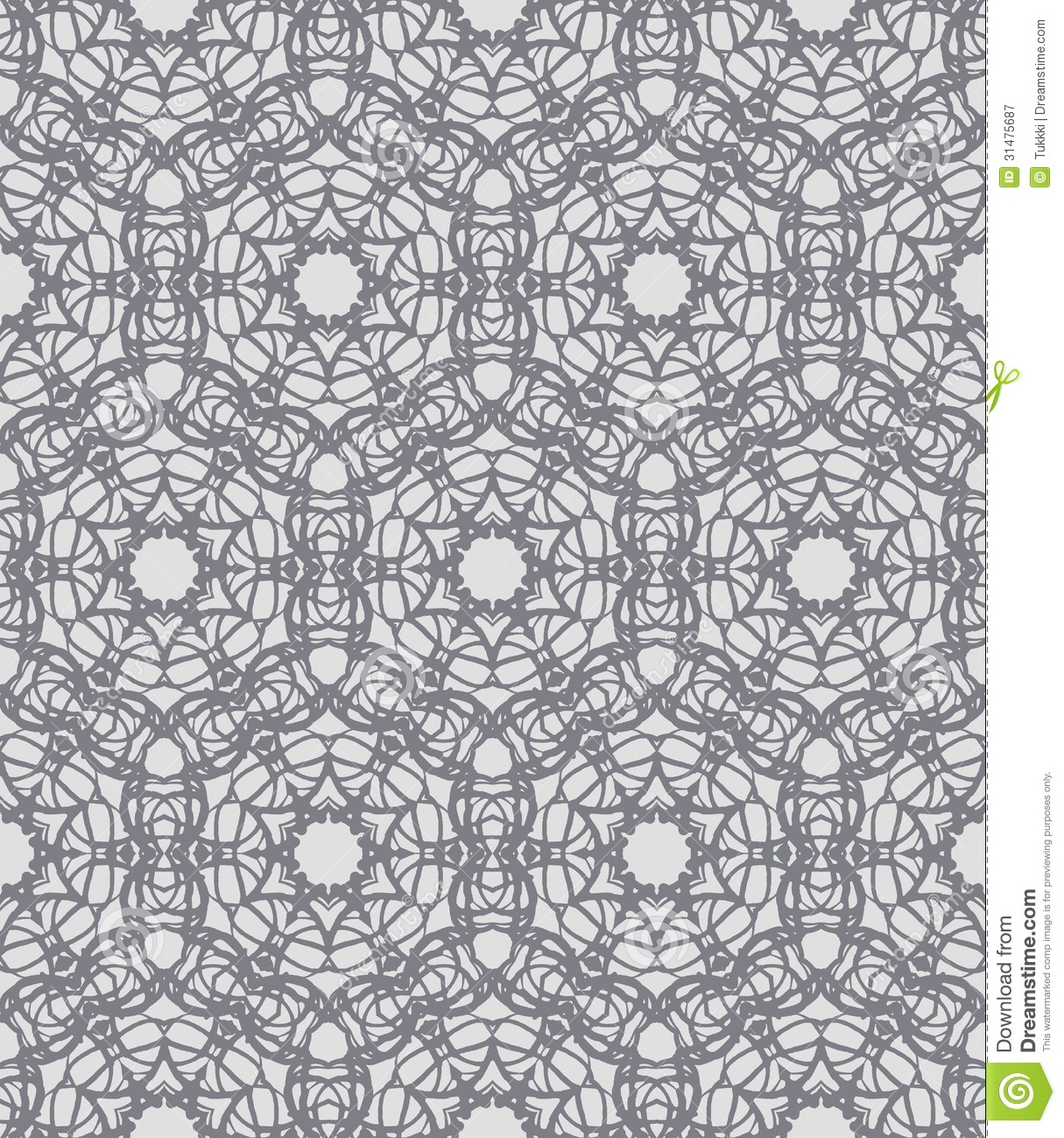 Grey lacing ornamented pattern with swedish motifs stock for Wallpaper home line