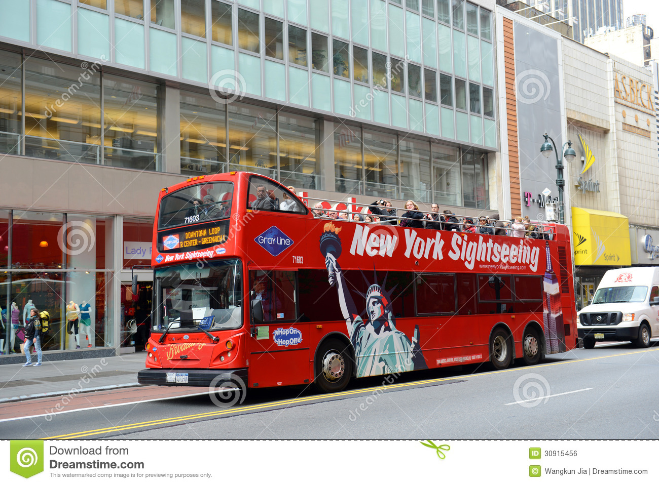 Grey Line Tour Bus At Th Street In NYC Editorial Photo Image - Bus tours usa