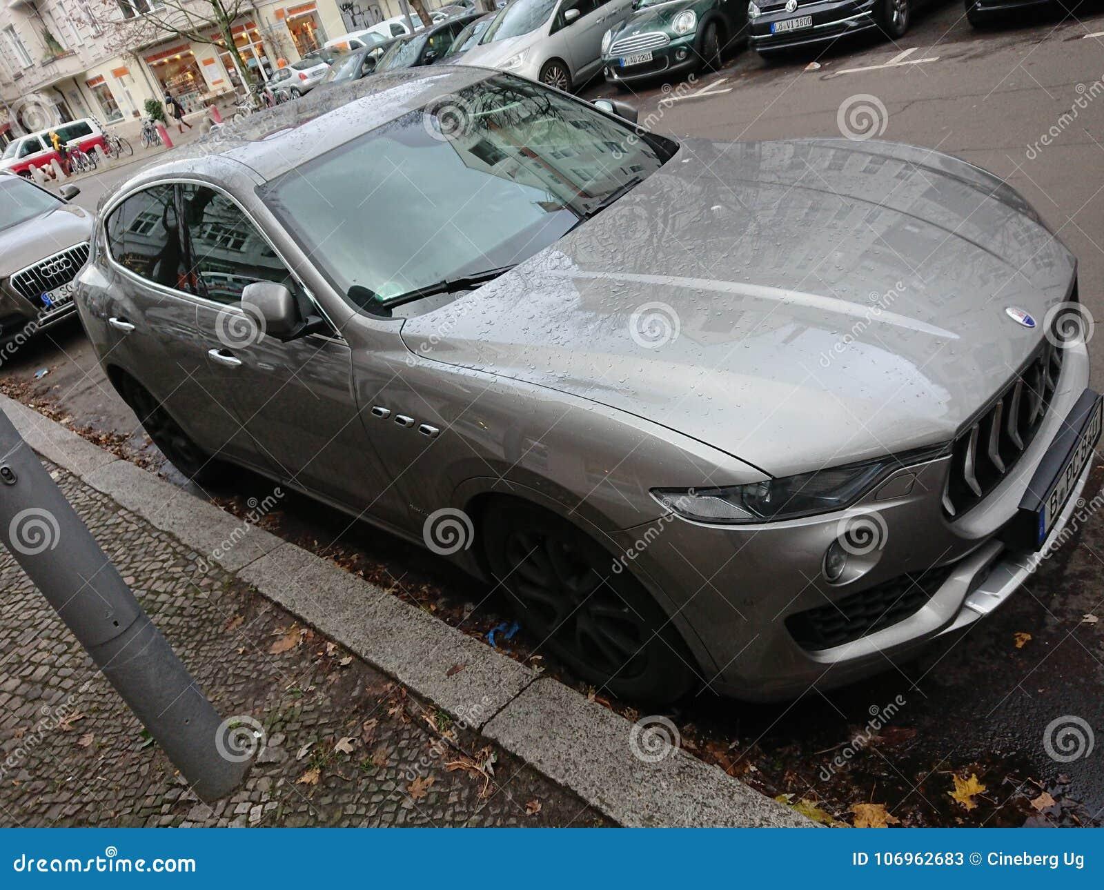 Grey Maserati Car With Trident Logo Editorial Stock Photo - Image of ...