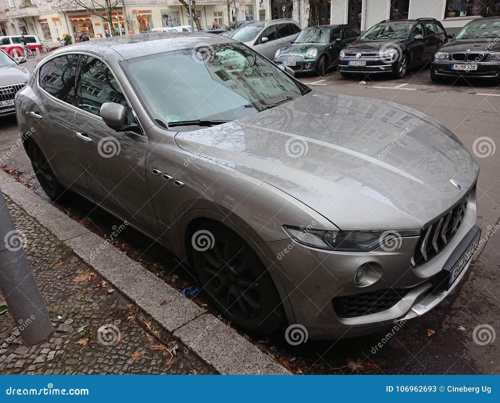 Trident Car Logo >> Grey Maserati Car With Trident Logo Editorial Stock Photo Image Of
