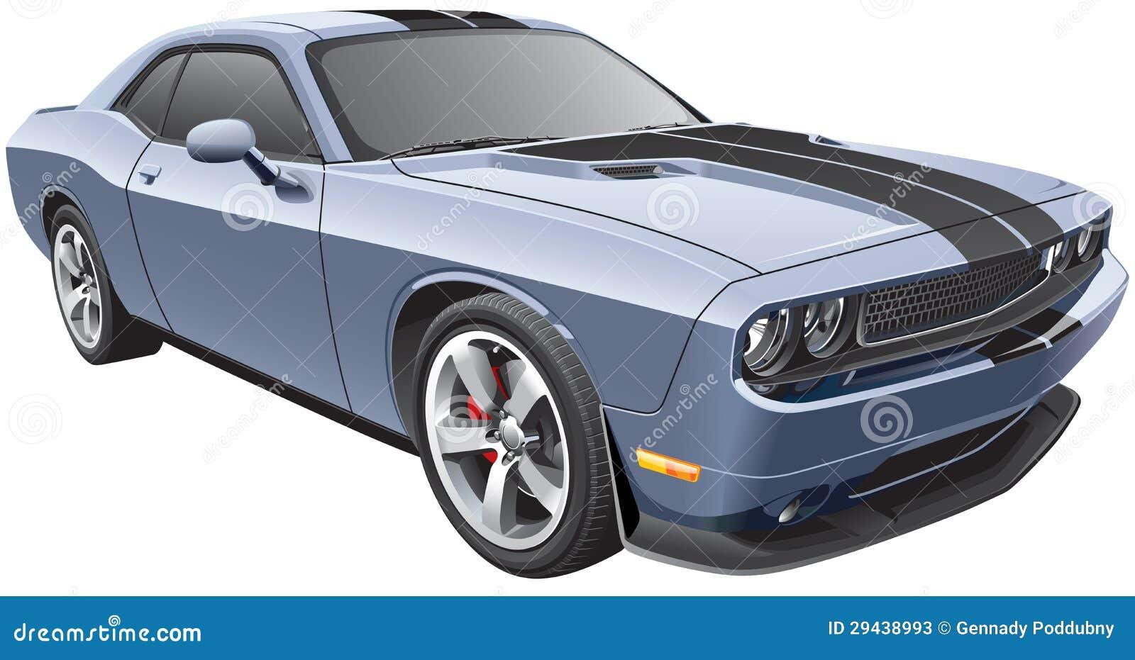 Grey Muscle Car Stock Photos Image