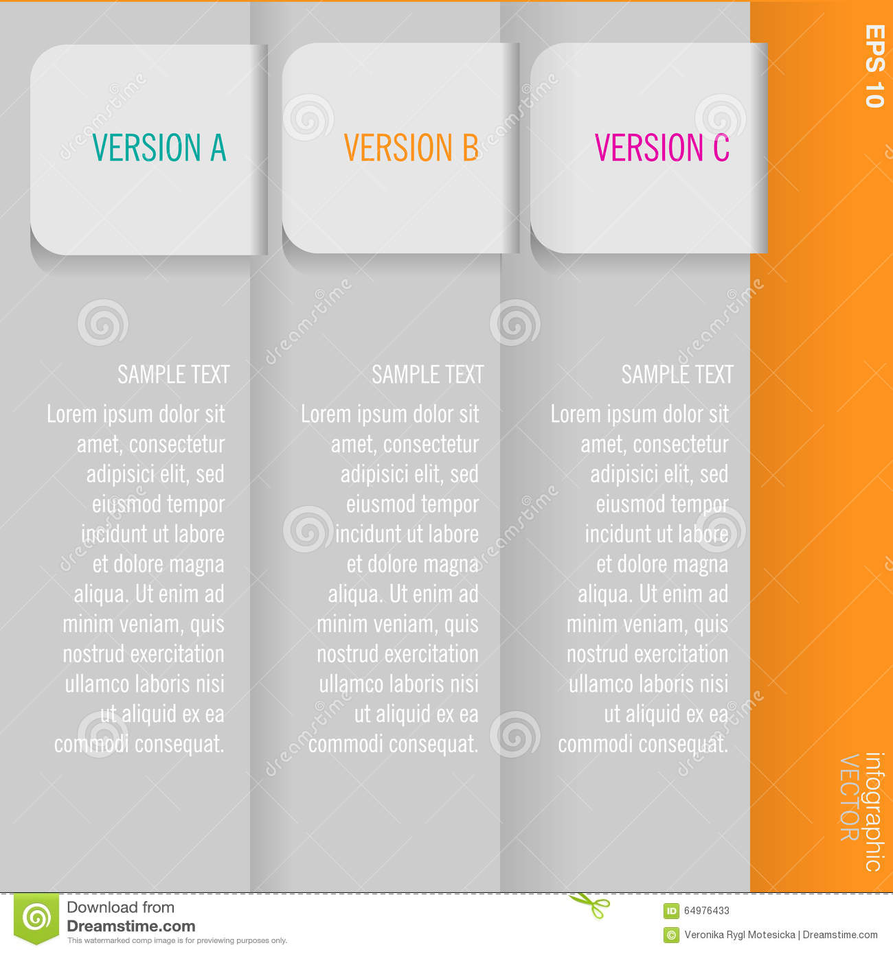 Grey Pages With Three Possibilities Of Choice Stock Vector ...