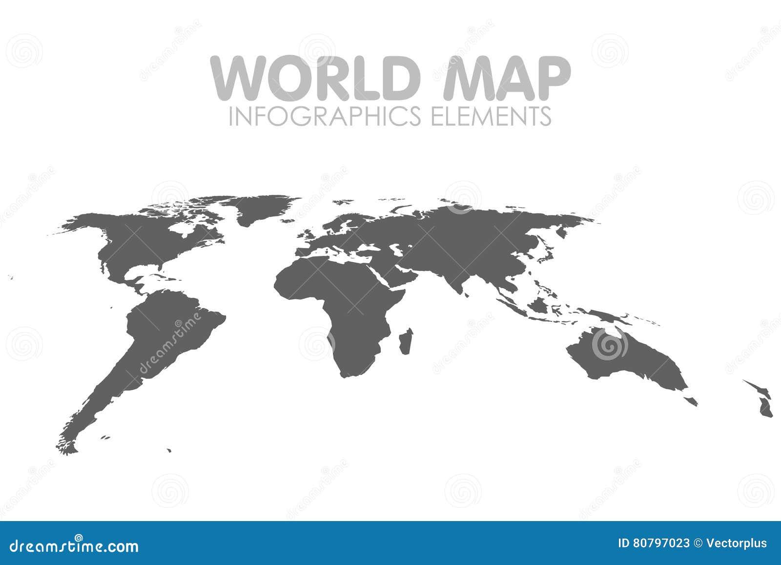 Grey political world map vector aisl el ejemplo stock de grey political world map vector aisl el ejemplo gumiabroncs Choice Image