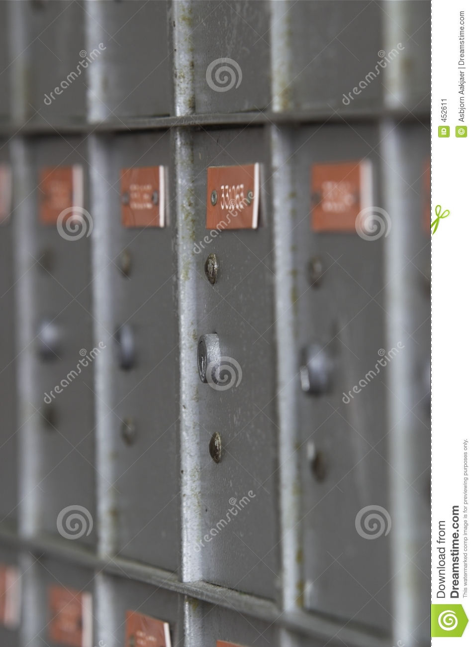 Download Grey Post Box 1 stock image. Image of steel, grey, numbers - 452611
