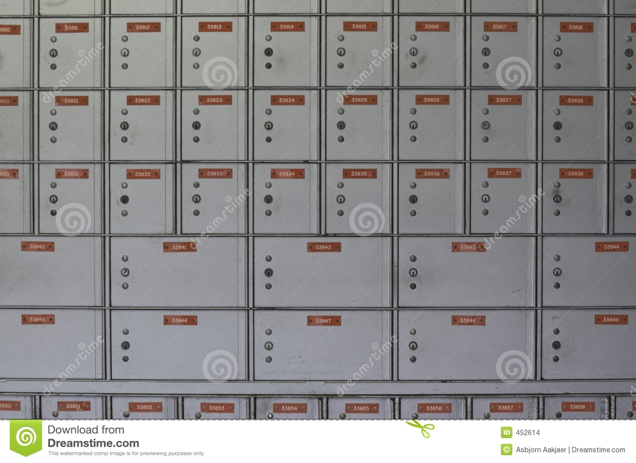 Download Grey Post Box 4 stock photo. Image of metal, numbers, safe - 452614