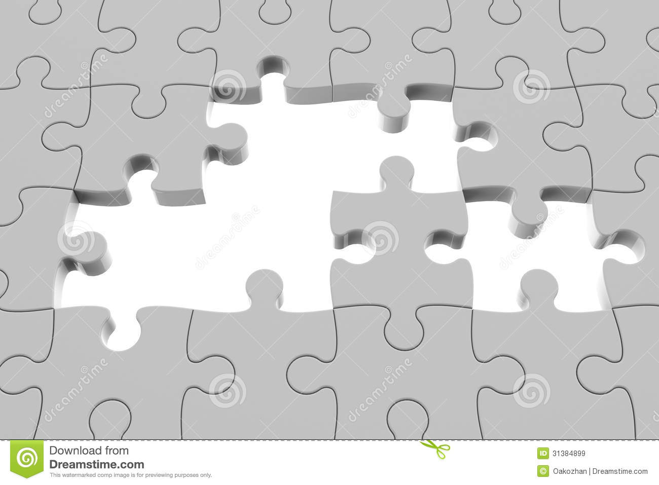 Grey puzzle pieces stock illustration. Illustration of designed ...