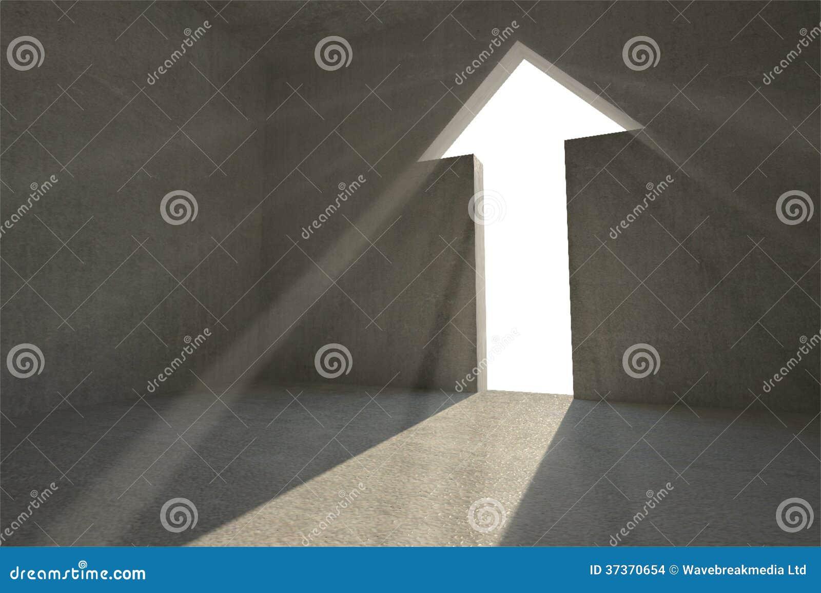 Grey room with arrow door & Grey Room With Arrow Door Stock Images - Image: 37370654 Pezcame.Com