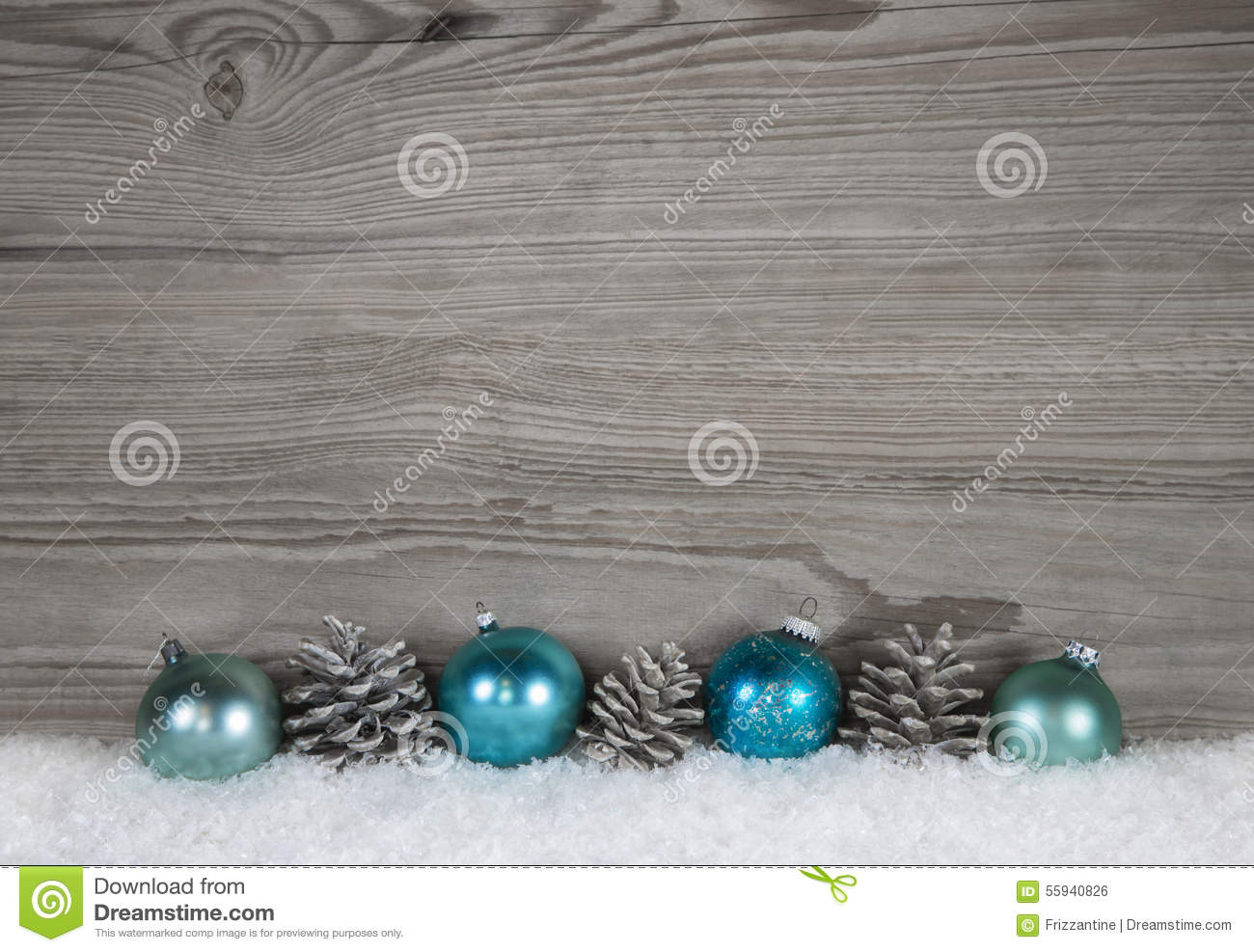 Shabby Chic Colors Style : Grey shabby chic christmas background with wood fir cone and ba
