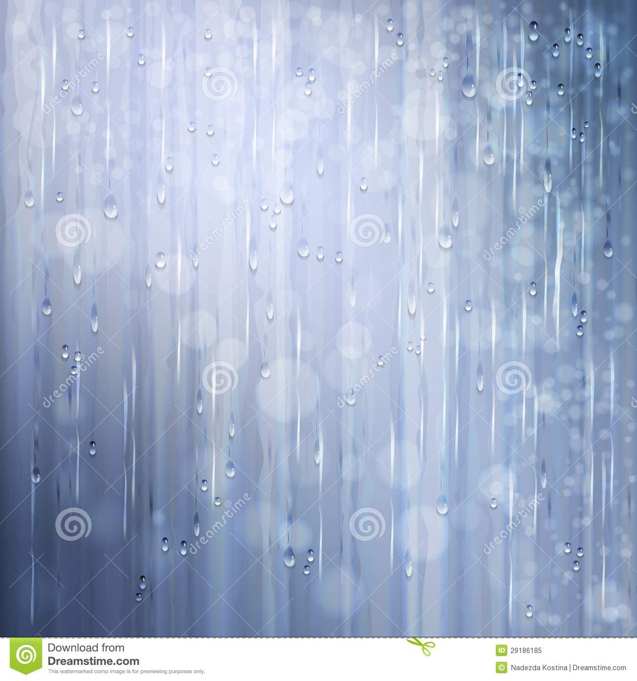 Grey shiny rain. Abstract water background design
