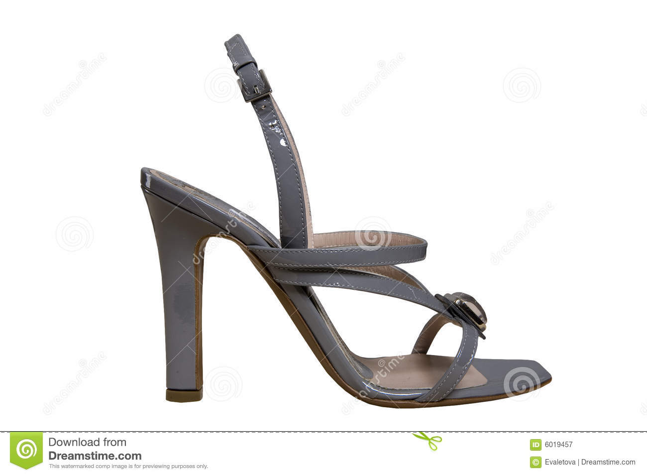 Royalty Free Stock Photography: Grey shoes with high heels