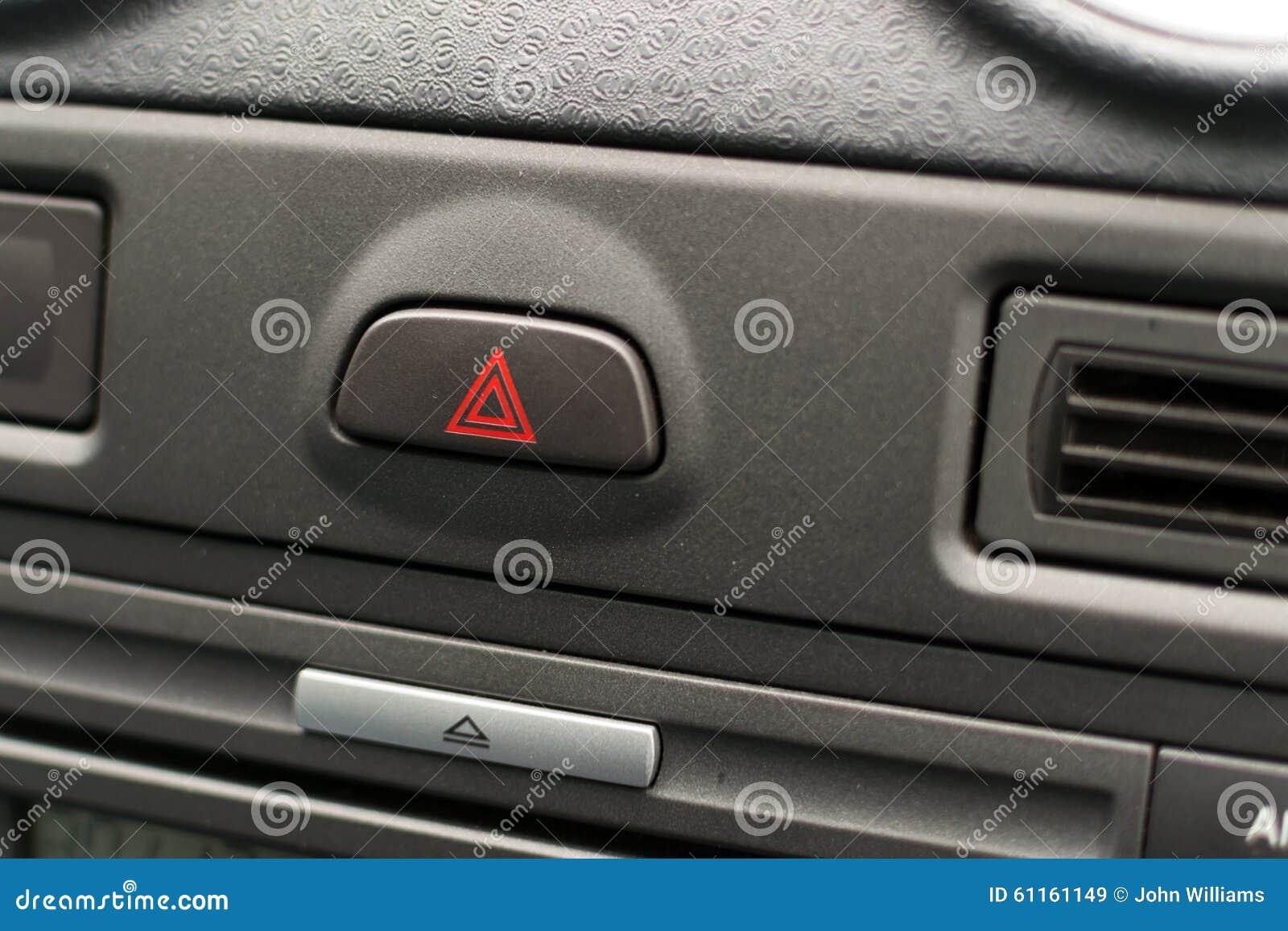 Grey unknown car dashboard hazard
