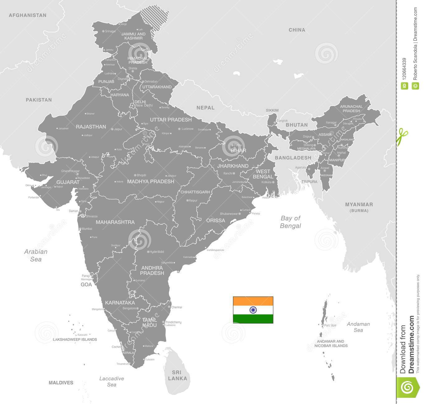 Grey vector political map of india stock vector illustration of download grey vector political map of india stock vector illustration of region grey gumiabroncs Gallery