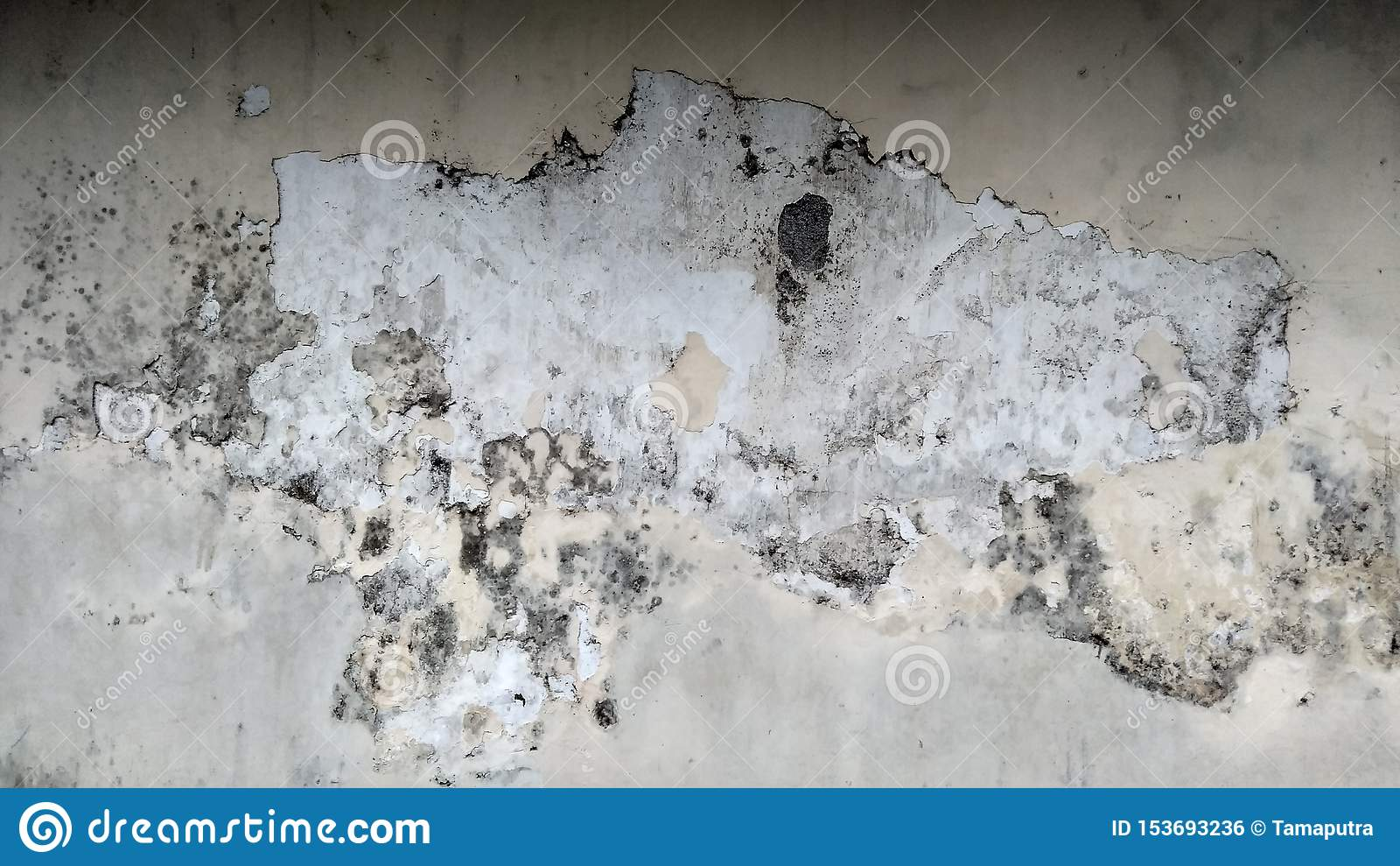 Grey Wall med Grungetextur