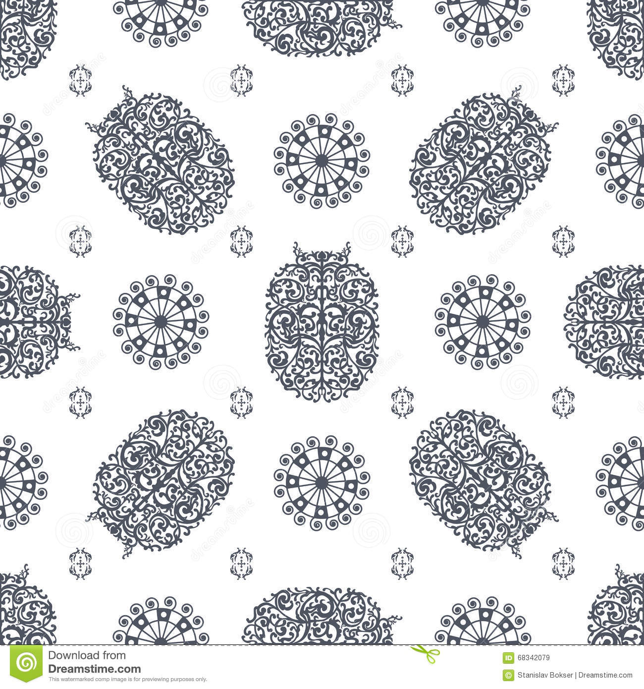 Grey And White Ancient Vintage Seamless Ornamental Texture ...