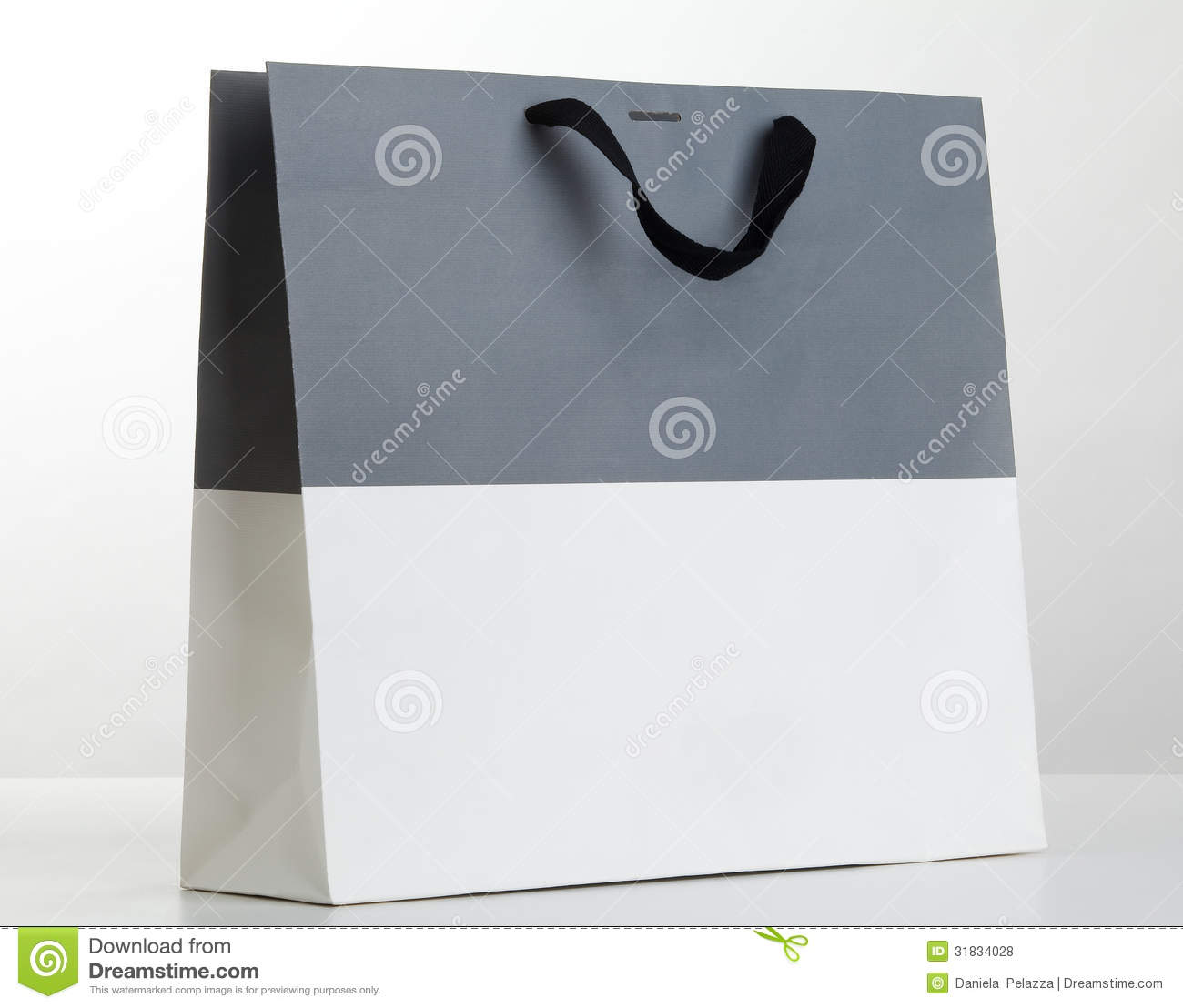 Grey And White Shopping Bag. Royalty Free Stock Photos - Image ...