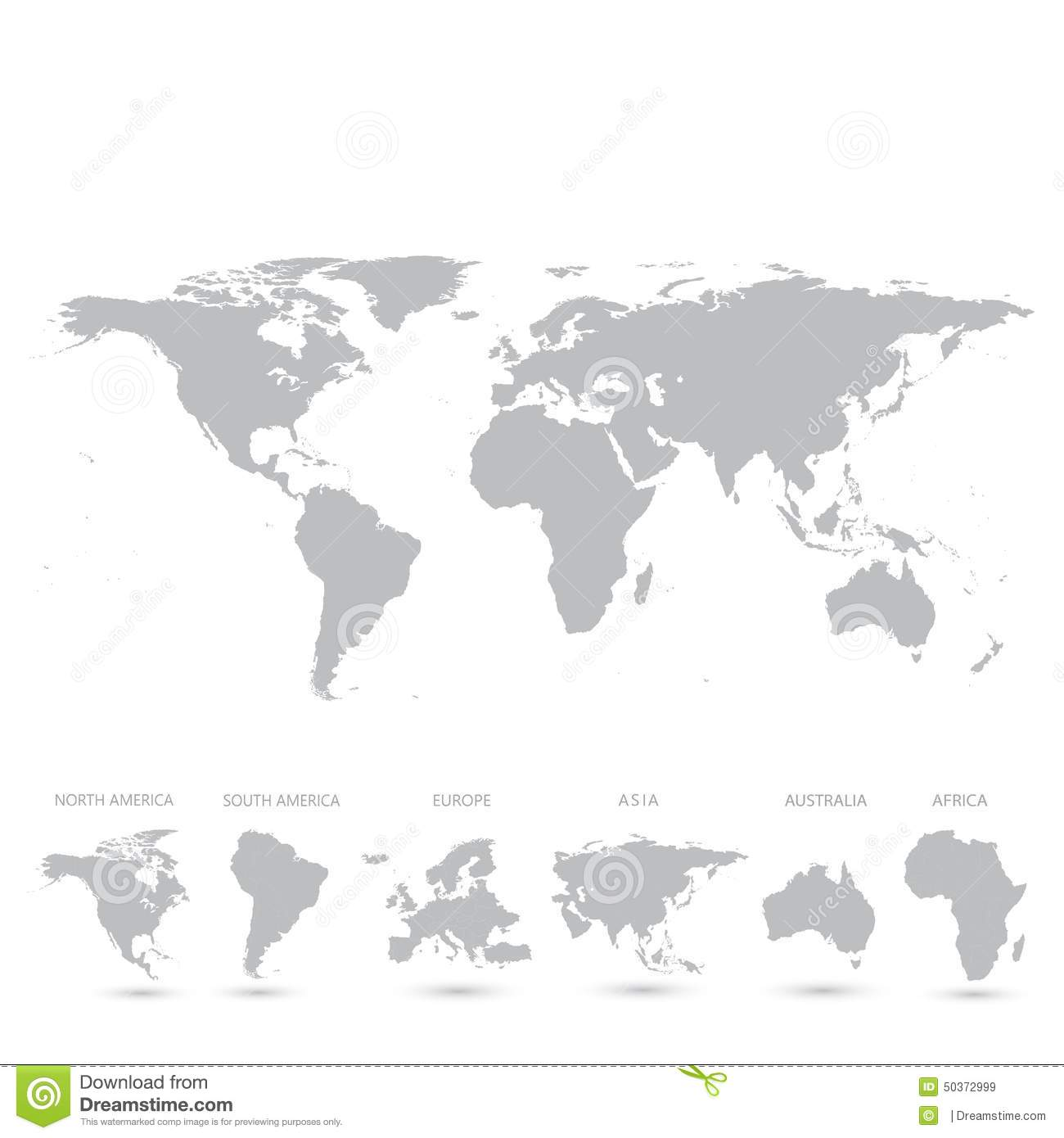 Grey World Map Illustration Stock Abbildung - Illustration von ...