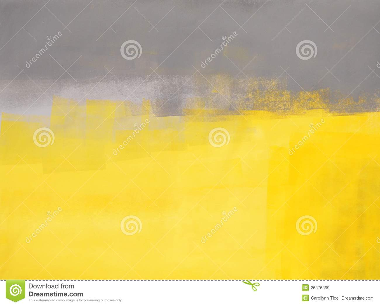 Grey And Yellow Abstract Art Painting Stock Image - Image of decor ...