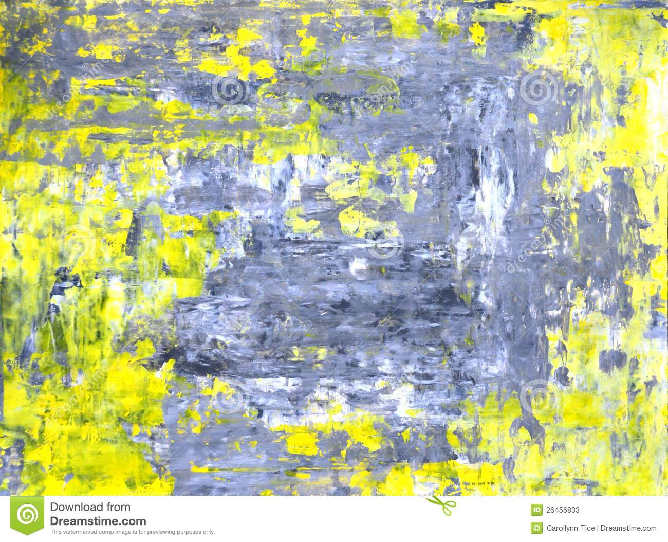 Beautiful Grey And Yellow Abstract Art Painting Stock Image - Image of image  ZY85