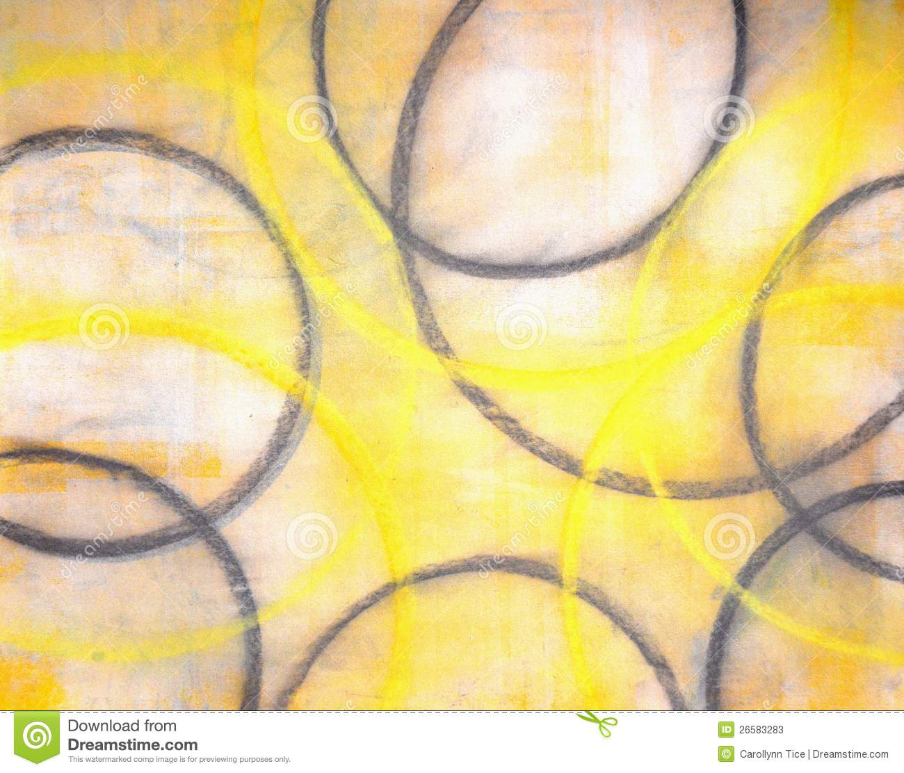 Grey And Yellow Abstract Art Painting Stock Illustration ...Yellow Abstract Painting