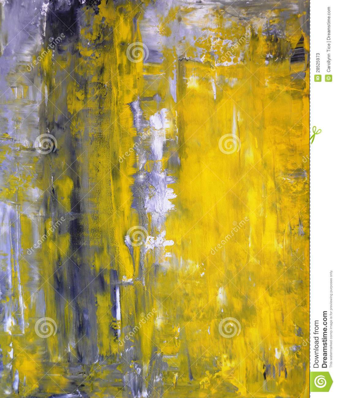 Grey And Yellow Abstract Art Painting Stock Photos - Image ...Yellow Abstract Painting