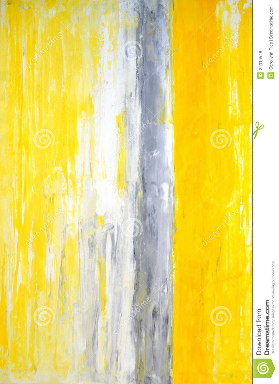 Grey And Yellow Abstract Art Painting Stock Photo - Image ...Yellow Abstract Painting
