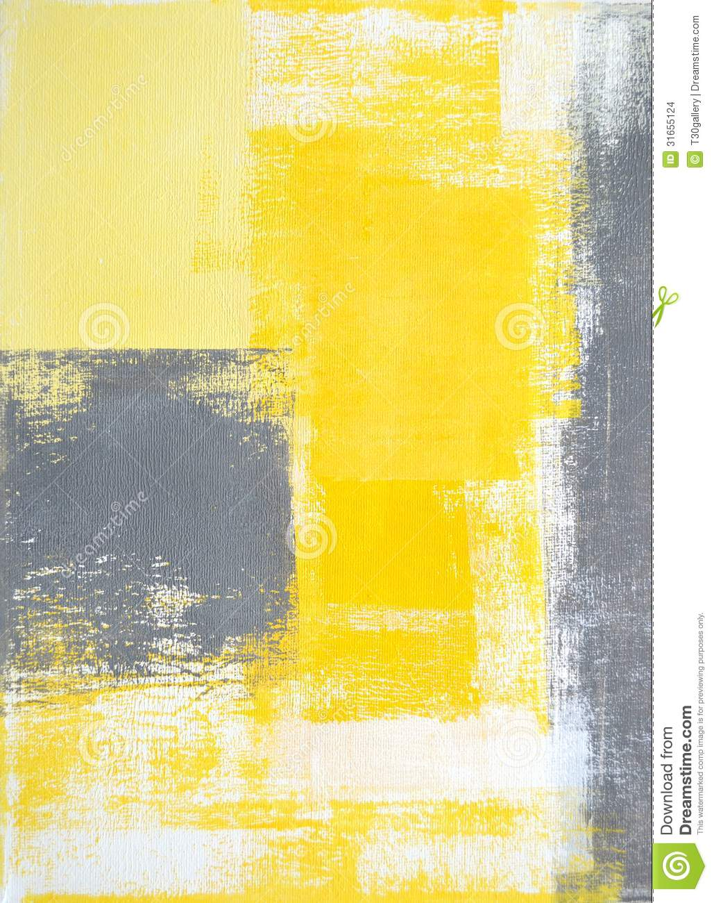 Grey And Yellow Abstract Art Painting Stock Images Image