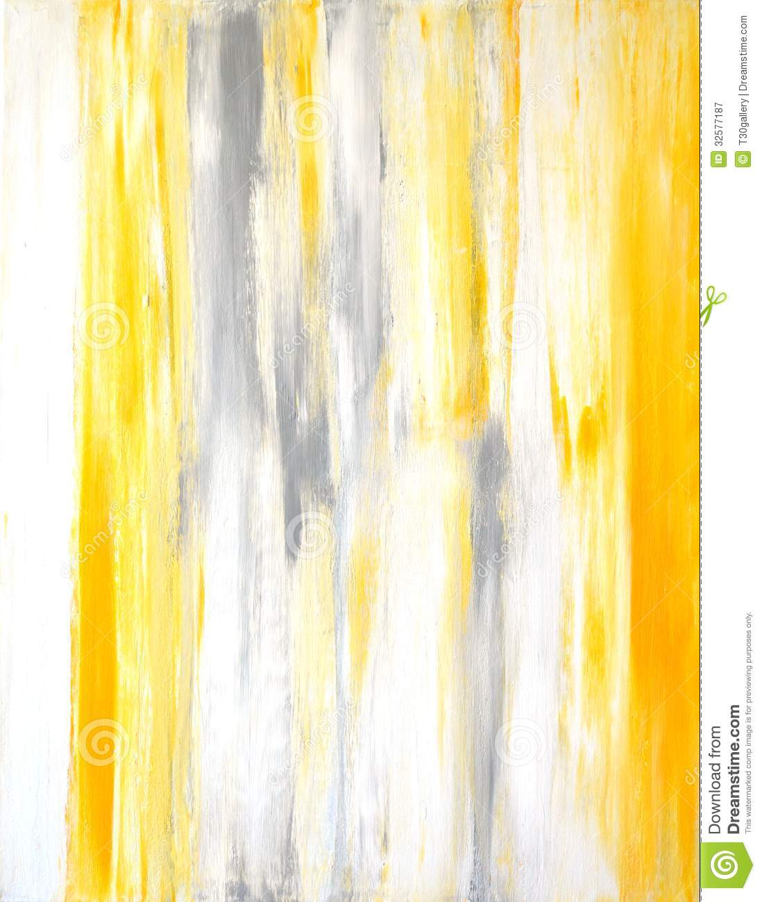 Grey and yellow abstract art painting royalty free stock for Yellow and gray paint