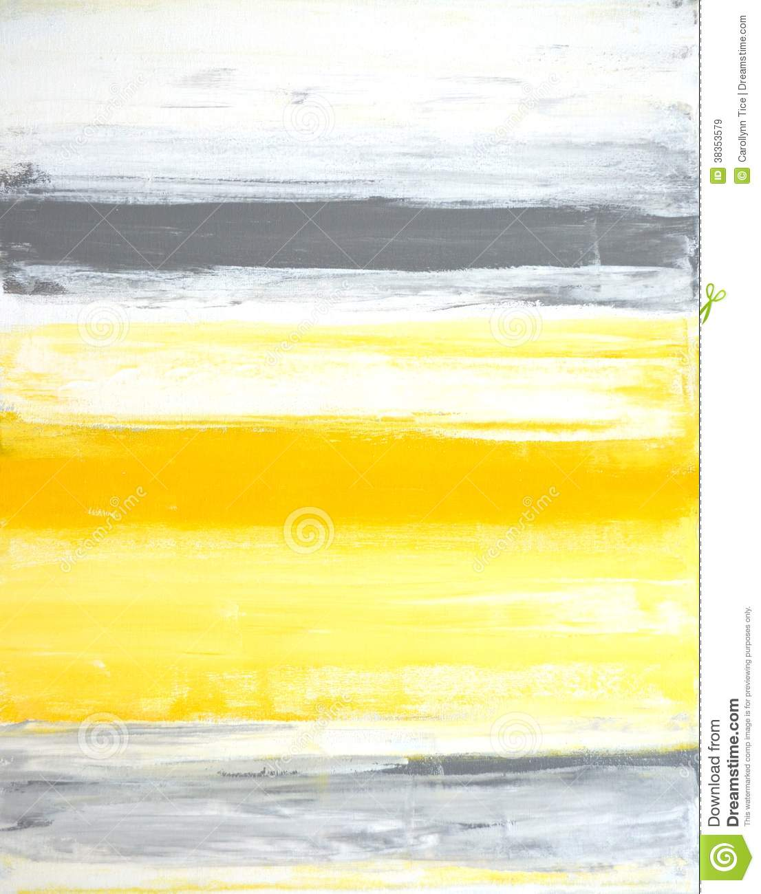 Grey And Yellow Abstract Art Painting Stock Image - Image ...Yellow Abstract Painting